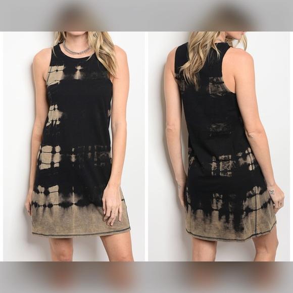Dresses & Skirts - SALE! 💕Black/Mocha Tie Dye Dress! New For Spring